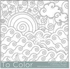 Printable Sun And Sea Coloring Page