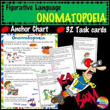 Figurative Language Onomatopoeia Activities Anchor Chart And Task