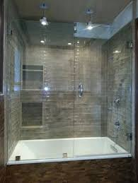 Seamless tub surround Prefabricated Frameless Glass Shower And Tub Enclosure Near Atlanta Georgia Tub Shower Combo Design Ideas Pictures Remodel And Decor Page