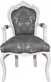 Casa Padrino Barock Esszimmer Stuhl Mit Armlehnen Grau