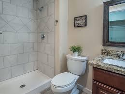 Bathroom Tile Ceiling Traditional 3 4 Bathroom With Raised Panel Limestone Tile Floors