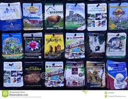 French Travel Brochures In Display Rack Editorial Stock Photo