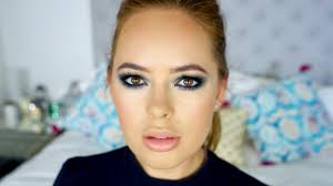 khloe kardashian blue smoky eye makeup tutorial tanya burr