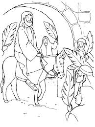 Small Picture Jesus Through Jerusalem Gate in Palm Sunday Coloring Page Color Luna