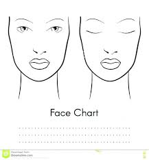 free printable makeup face charts male template golden ratio blank