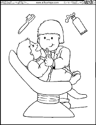 Small Picture jobs coloring worksheet Dentist colouring picture people who