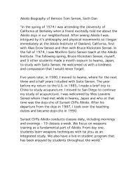 "Aikido Biography of Bernice Tom Sensei, Sixth Dan ""In the spring ..."