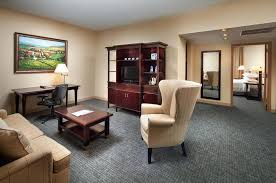 a seating area at anaheim majestic garden hotel