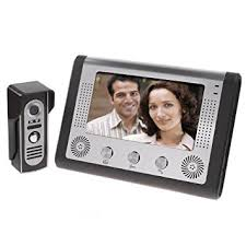 front door intercomBW 7 Inch Video Door Phone Doorbell Video Entry System Intercom