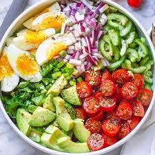 avocado salad recipe with tomato eggs