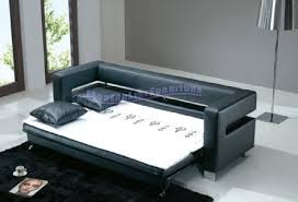 modern leather sofa bed. Simple Leather Contemporary Furniture Modern Black Leather Sofa Bed Sleeper Intended D