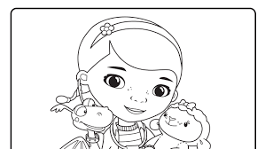 Doc Mcstuffins And Friends At The Clinic Coloring Pages Disney