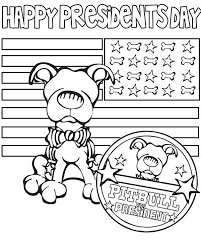 Small Picture Happy Presidents Day Say the Pitbull Coloring Page Download