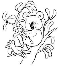 Kids N Fun Kleurplaat Koala Beertjes Koala Beertje