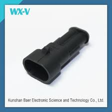 pin way superseal male female wiring harness connector 2 pin way 150 superseal male female wiring harness connector 282104 1 282105 1