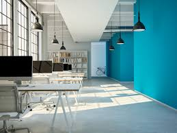 Image Trendy Office With Blue Colour Scheme For Productivity Open Workspace Design How To Use Colour Schemes To Boost Office Productivity