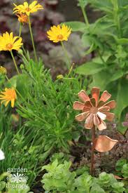 copper garden art. Copper Garden Art Flower - Daisy T