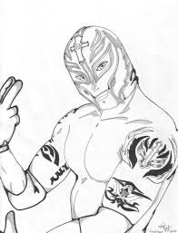 Wwe Rey Mysterio Coloring Pages Color Bros