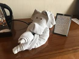 marriott housekeeping towel art with personal note from housekeeping associates picture