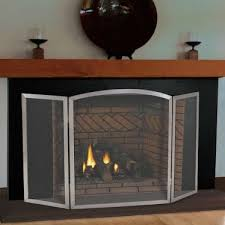 pilgrim 54 x 30 stainless steel newport tri panel fireplace screen