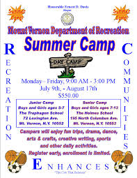 Summer Camp Pamplets Summer Camps City Of Mount Vernon Ny