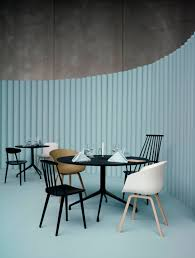 contemporary dining table plywood aluminum round aat by hee welling