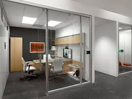 accent office interiors. steelcase private office light wood furniture dark accent wall and carpet interiors