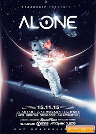 Alone In The Space V5 Flyer Template Free Download | Free Graphic ...