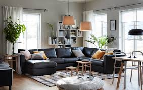 modern living room furniture black. the black vimle 5-seat corner sofa with chaise longue in centre of a modern living room furniture b