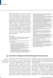 evolution of adjuvant chemotherapy for breast cancer the lancet first page of article