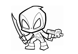 Baby Deadpool Coloring Pages Free Printable Cute Baby Deadpool