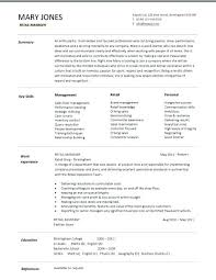 1 Page Resume Template Delectable Sample 48 Page Resume Resume 48 Page Retail Manager Template Resume