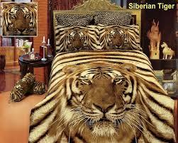 siberian tiger king duvet bedding