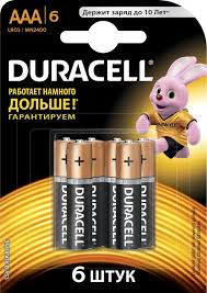 Купить <b>AAA Батарейка DURACELL</b> Basic LR03-6BL MN2400 в ...