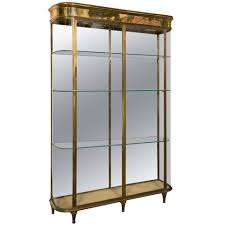 Metal Glass Display Cabinet Glass Display Cabinet At 1stdibs