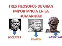 Tres filosofos de gran importancia en la humanidad
