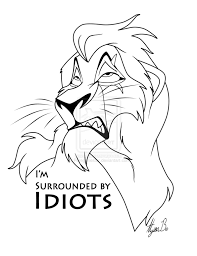 Scar Lion King Coloring Pages Inside Page - glum.me