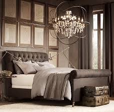 Chesterfield Upholstered Sleigh Bed   Upholstered Beds   Restoration  Hardware