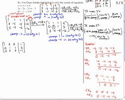 solve a system of equations with no solution using gauss jordan elimination