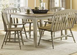 Rectangle Casual Dining Table With Driftwood Taupe Finish