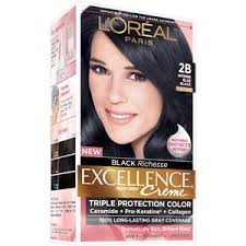 get ations l oreal paris excellence richesse creme hair color 2b intense blue black