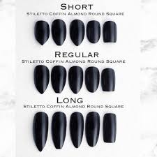 Acrylic Nail Length Chart Best Picture Of Chart Anyimage Org