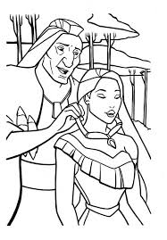 Real Chief Powhatan Coloring Pages