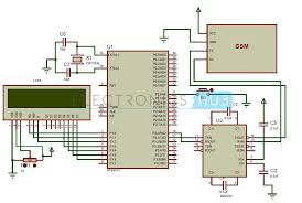 gsm circuit diagram ireleast info gsm modem interfacing 8051 microcontroller at89c51 wiring circuit