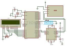 gsm circuit diagram info gsm modem interfacing 8051 microcontroller at89c51 wiring circuit