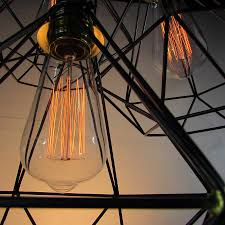 beautiful filament bulbs included fully dimmable bulbs diamond cage cer pendant