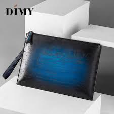 <b>Dimy</b> Business A4 Envelope Bag Italian Calfskin <b>Leather</b> Men's ...