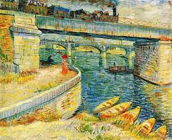 oil canvas fabric quality oil canvas painting directly from china canvas oil suppliers bridges across the seine at asnieres vincent van gogh