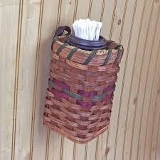 Amish Made Large Wall Hanging Cotton Ball & Swab Holder Basket