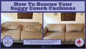 how to rescue your saggy couch cushions